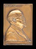 Médaille rectangulaire dédiée à Auguste Marteroy