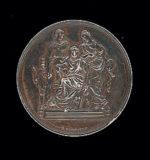 Médaille en argent obtenue par Jean Boucher pour le prix Lemaire