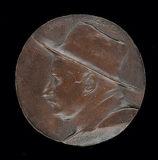 Maquette en alliage pour médaille à l'effigie de Carlos Baca-Flor