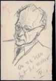 Portrait de Jean Boucher au crayon papier