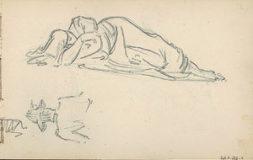 Etude pour une femme allongée
