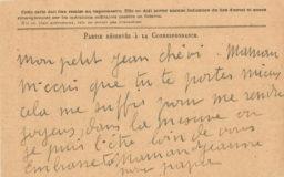 Correspondance de Jeanne à Jean Boucher – 1918