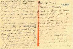 Correspondance à sa femme (12-9-1914)