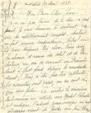 Lettre de Madame Boucher à son époux en 1938
