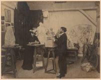 Photographie du couple Boucher dans l'atelier