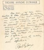 Lettre de Paul Reboux adressée à Jean Boucher lors du décès de sa mère