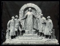Maquette en terre pour le monument des infirmières