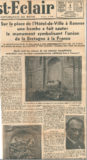 Une bombe a fait sauter le monument symbolisant l'union de la Bretagne à la France – Ouest-Eclair 1932
