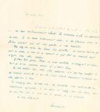 Lettre de Jean-Julien Lemordant adressée à Jean Boucher lors du décès de sa mère