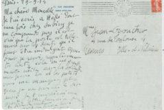 Lettre de Jean Boucher à sa femme en 1914