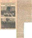 Les obsèques du maître Jean Boucher – Ouest Eclair 1939