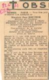 Avis d'obsèque de Jean Boucher – Ouest Eclair